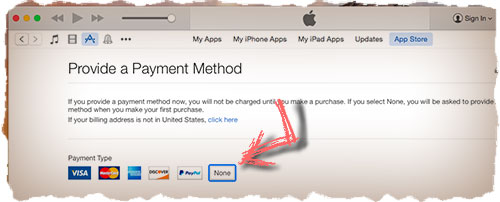 Apple ID without credit card