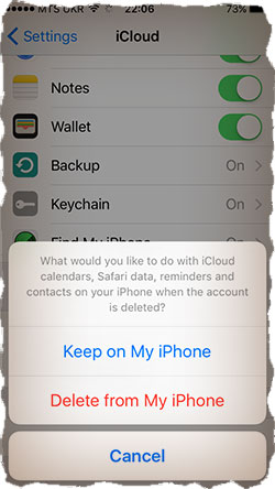 Keep Contacts on iPhone