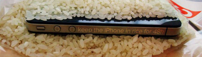 keep iPhone in rice for 48 hours