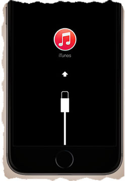 Connect to iTunes screen on iPhone