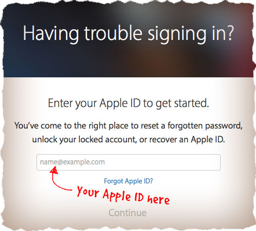 Forgot Apple ID