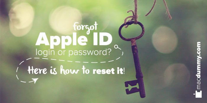 Forgot Apple ID password or login? Here is how to reset it!