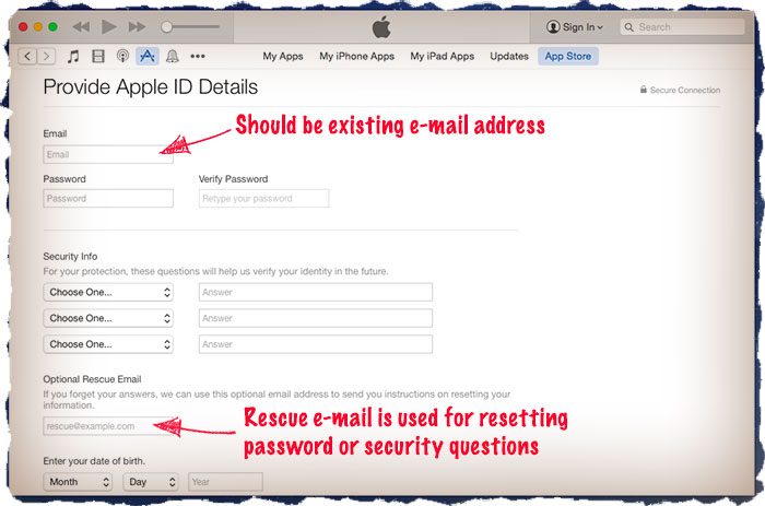 Apple confirmation e-mail
