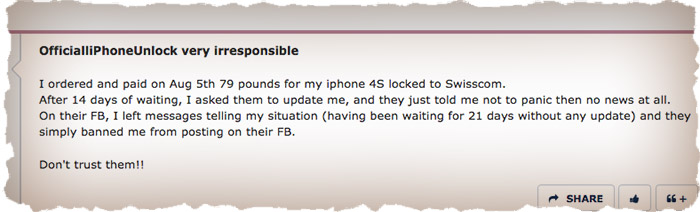iPhone Unlock Fraud