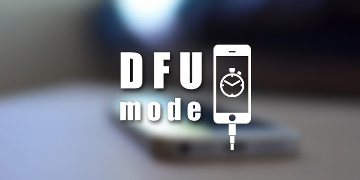 DFU mode on iPhone or iPad [with a HOME button]