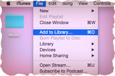 Add music to iTunes library