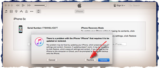 If you forgot the pass code - recovery mode is for you
