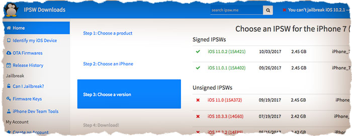 What is current iOS firmware