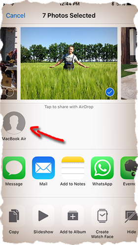 How to AirDrop photos from iPhone to a PC