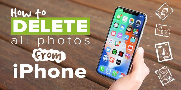 How to delete all photos from iPhone in less than 3 seconds? [Idiot Guide]
