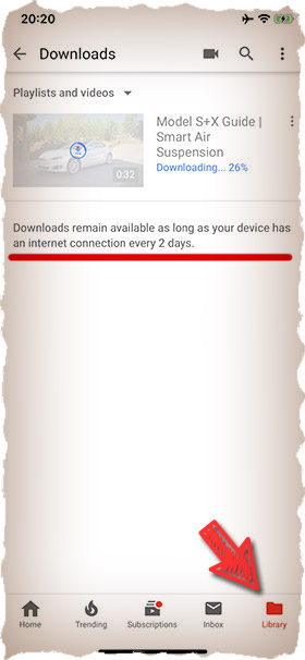 Downloads will stay on iPhone if...