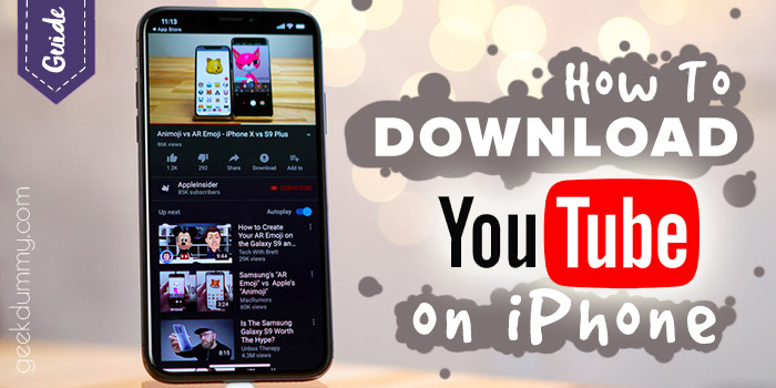 How to save YouTube videos on iPhone