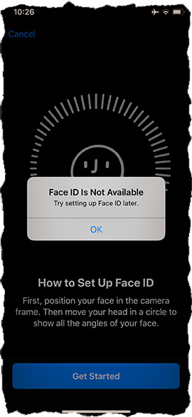Face ID is Not Available