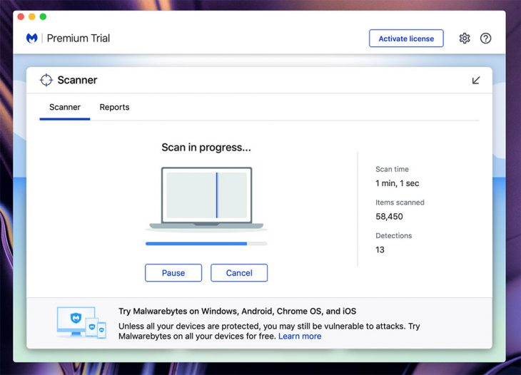 Malware is detected on macOS